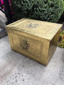 Vintage Brass Fire Box at The Old Attic