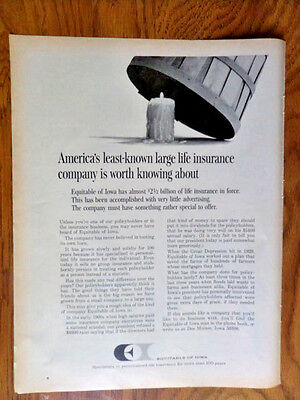 1968 Equitable Life Insurance Ad Equitable Of Iowa Americas Least Know Large