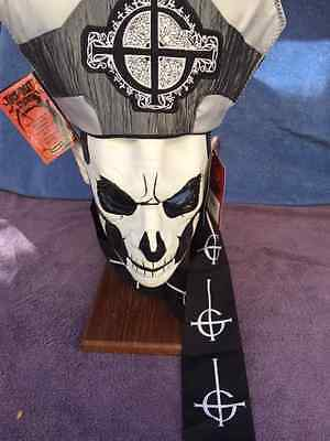 Halloween GHOST - PAPA II EMERITUS DELUXE EDITION LATEX MASK Haunted House NEW   - Papa Emeritus Mask