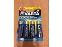 BNIP Varta AA batteries