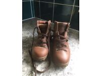 Pair of size 5 hiking boots