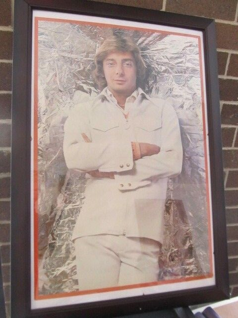 NEW BARRY MANILOW-  23 X 33 - POSTER - VINTAGE 1977 - WITH LOVE WHITE LEISURE