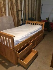 Captains Bed with chest of drawers