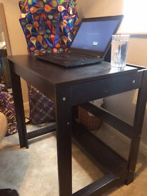 IKEA Dark Wood computer workspace desk
