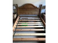 Pine double bed (delivery available )