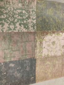 Lovley green and cream modern rug