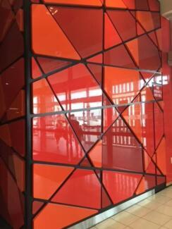 Modern Wall Cladding - Glossy Red, Orange and Black