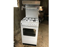New World NW 50THLG White Gas Cooker and High Level Grill