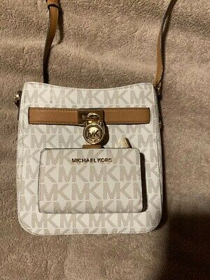 Michael Kors Purse and Wallet Set - Vanilla & Tan Color - Great Condition!