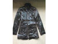 Brand new dark brown unworn leather jacket - £120 ONO