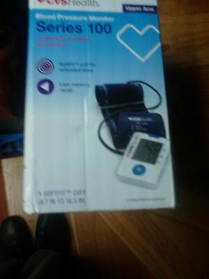 NEW IN BOX CVS Health Upper Arm Digital Blood Pressure Monitor Series 100 White