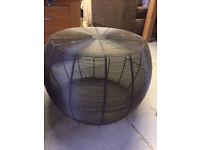 NEXT metal wires round stools