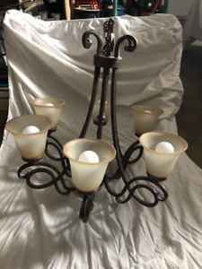 Matching Chandeliers and 5 x Ceiling Lights (Selling Seperately)