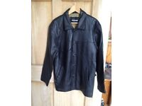Beautifully soft mens Black Leather Jacket (peruzzo) size small excellent condition