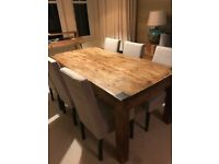 Solid Oak dining or kitchen table