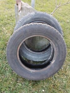 2 Nordic Winter Tires & 2 Magna Grip Winter Tires (14 inch)