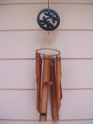 Dragonfly Wind Chimes ( Carved Wood Double Dragonflies Dragonfly Bamboo Wind Chimes FREE)