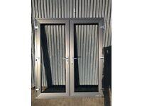 1800 X 2100 CHARCOAL FRENCH DOOR BRAND NEW DOUBLE DOOR PATIO