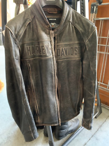 Harley Davidson Vintage Brown Motorcycle Riding Jacket