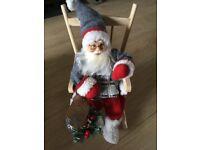 Christmas Santa rocking chair decoration