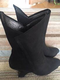 Ladies Black Boots Size 38 by Dutch Designer Jan Jansen