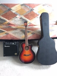 IBANEX ACOUSTIC-ELECTRIC GUITAR PACKAGE