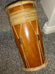 ETHNIC DRUM,authentic,Malaysia,1976, 2feet tall ,strong,unusual