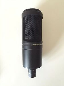 Audio Technica AT2020 Cardioid Condenser Microphone W/ Cables