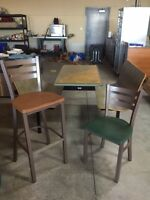 Used restaurant chairs and booths