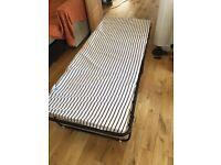 Single folding guest bed + Duvet + Pillow