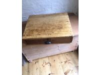 Victorian Pine Writing Slope With Drawer