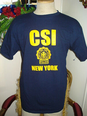 CSI New York Dark Blue T-shirt, Size XL,Halloween Costume,Police,Cotton - Halloween Costumes Ny