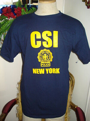 CSI New York Dark Blue T-shirt, Size XL,Halloween Costume,Police,Cotton](Halloween Costumes Ny)