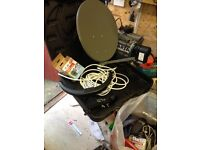 caravan sky dish never used in carry case and stand or pole fitting