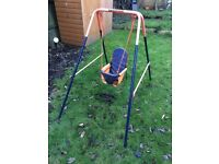 Outdoor baby swing to give away