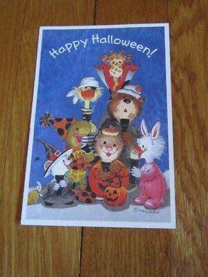 lloween Postcard New Unused Spafford 1993 (Zoo-halloween)