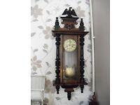 victorian kienzle long case wall clock perfect working order