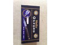 BNIB Helix Oxford Medium Roller Ball Pens Packs of 12 Blue Ink