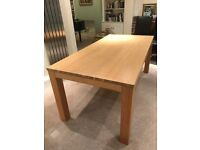 Oak dining table and sideboard - very good condition