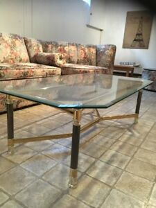 Table de verre