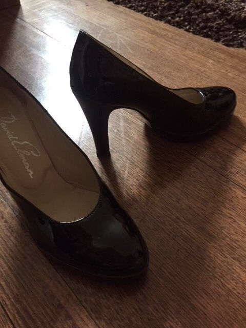 black patent eveing shoes, 3.5 or 35 .5