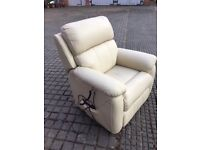 ELECTRIC LEATHER RECLINING ARMCHAIR