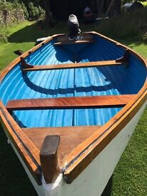 Beautiful GRP Rowing Boat good as new