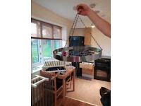 Ceiling pot/pan rack