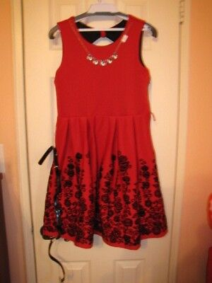 Girl's BeauteesS Red Dress With Flowers size 16 - Flower Girl Dresses With Red