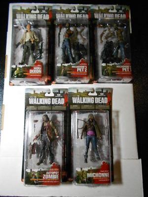 Walking Dead Tv Series 3 Action Figures Set Of 5 Mcfarlane Toys