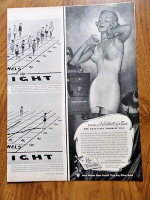 1950 Life Formfit Bra Ad Sweetheart of a Figure