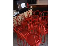 Bistro cafe chairs x 24
