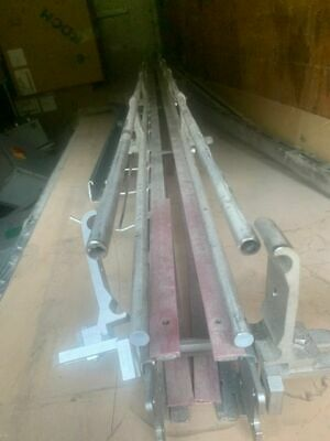 Stainless Steel Inline Conveyor 10ft Peices No Belt New