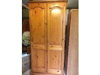 pine furniture: bed, wardrobe (x2), dressing table, mirror : offers accepted if you can pick up soon